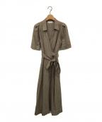 styling/ kei shirahata(スタイリング / ケイ シラハタ)の古着「カシュクールワンピース」|ベージュ