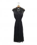 Snidel(スナイデル)の古着「スィッチングレースドレス」|ブラック