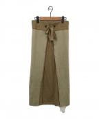 TAN(タン)の古着「ニットスカート」|ベージュ