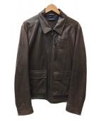 ()の古着「ガンチーニ装飾レザージャケット」 ブラウン