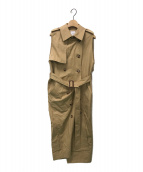 ()の古着「TRENCH LIKE DRESS」 ベージュ