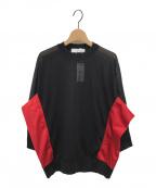 TOGA PULLA(トーガ プルラ)の古着「ハイツイストジャージトップス」 ブラック