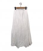CP Shades×Ron Herman(シーピーシェイズ x ロンハーマン)の古着「リネンスカート」|ホワイト