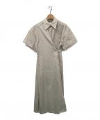 LE CIEL BLEU(ルシェルブルー)の古着「ラップシャツワンピース」|ベージュ