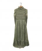 DREAM sister jane(ドリームシスタージェーン)の古着「daisy lawn maxi dress」|グリーン