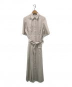 styling/ kei shirahata(スタイリング / ケイ シラハタ)の古着「ロングシャツドレス」|ベージュ