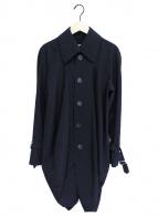 ()の古着「変形ステンカラーコート」|ネイビー