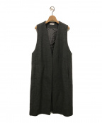 DEUXIEME CLASSE(ドゥーズィエム クラス)の古着「LADILUX-GILETロングジレ」|グレー