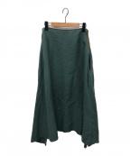 MADISON BLUE(マディソンブルー)の古着「ミモレフレアスカート」|グリーン