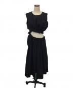 COMME des GARCONS(コムデギャルソン)の古着「カッティングウエストワンピース」|ブラック