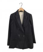IENA(イエナ)の古着「ウールダブルブレストジャケット」|ネイビー