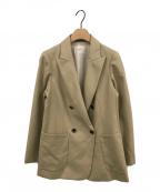 IENA()の古着「ウールダブルブレストジャケット」|ベージュ