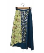 ()の古着「HAYETT PRINT パンツ」|ブルー