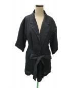 ()の古着「ハーフスリーブライトジャケット」|ブラック