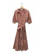 ()の古着「シャツディテールワンピース」|ピンク