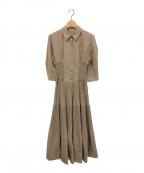FRAY ID(フレイアイディー)の古着「シャツワンピース」|ベージュ