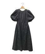 CELFORD(セルフォード)の古着「バックフレアワンピース」|インディゴ