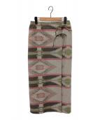 ()の古着「ナバホツイード スカート」|ベージュ