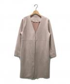 SO CLOSE(ソー クロース)の古着「フェイクスエード調ジャージーコート」|ピンク