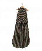 CURRENTAGE(カレンテージ)の古着「NARROW DOWNドレス」|ブラック