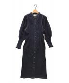 ()の古着「デニムシャツワンピース」|インディゴ