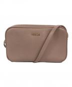 FURLA(フルラ)の古着「ダブルファスナーショルダーバッグ」 ピンク