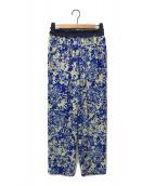 ()の古着「インクプリントゴムパンツ」|ブルー