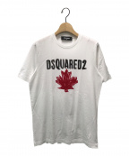 DSQUARED2()の古着「Maple Leaf Tシャツ」|ホワイト