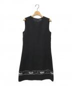 DOLCE & GABBANA(ドルチェ&ガッバーナ)の古着「ノースリーブワンピース」|ブラック