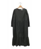 ()の古着「Cotton Tiered Dress」|ブラック