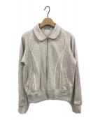 ()の古着「スウェットジップジャケット」|グレー