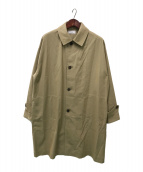 ()の古着「SHIRT COAT - 100/2 gv twill -」 ベージュ