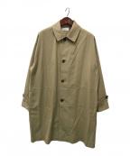 MARKA(マーカ)の古着「SHIRT COAT - 100/2 gv twill -」|ベージュ