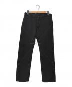 COMME des GARCONS HOMME(コムデギャルソン オム)の古着「ウール縮絨パンツ」|ブラック