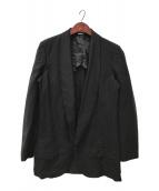 ()の古着「エステル加工ロングジャケット」 ブラック