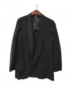 COMME des GARCONS HommePlus(コムデギャルソンオムプリュス)の古着「エステル加工ロングジャケット」|ブラック