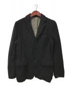 ()の古着「ウール縮絨テーラードジャケット」 ブラック