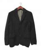 COMME des GARCONS HOMME(コムデギャルソン オム)の古着「ウール縮絨テーラードジャケット」|ブラック