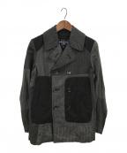 COMME des GARCONS HOMME(コムデギャルソン オム)の古着「Pコート」 ブラック