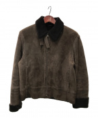 JIL SANDER(ジルサンダー)の古着「ムートンジャケット」|ブラウン