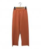 AURALEE(オーラリー)の古着「WOOL POLYESTER RIB KNIT PANTS」|オレンジ
