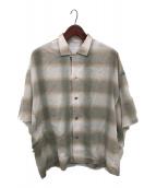 ()の古着「ポンチョオープンカラーシャツ」 ベージュ
