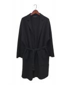 ()の古着「ベルテッドコート」 ブラック