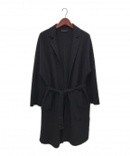 HEVO(イーヴォ)の古着「ベルテッドコート」|ブラック