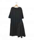 FRAPBOIS(フラボア)の古着「フォルドワンピ」|ブラック