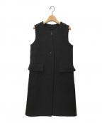 DRAWER(ドゥロワー)の古着「ロングジレ」 ブラック