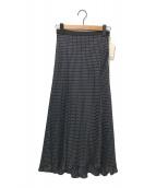 ()の古着「ドットフレアースカート」 ブラック