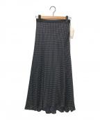 Spick and Span(スピックアンドスパン)の古着「ドットフレアースカート」|ブラック