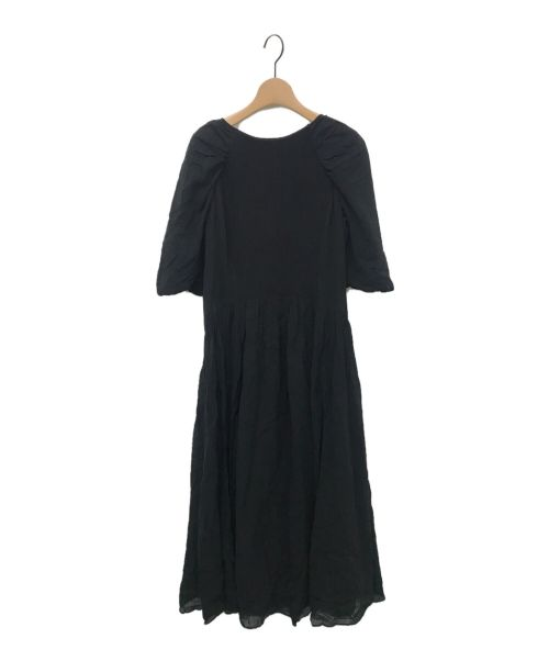 Snidel(スナイデル)Snidel (スナイデル) ニットドッキングボリュームスリーブワンピ ブラック サイズ:1の古着・服飾アイテム