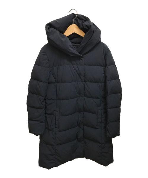 UNTITLED(アンタイトル)UNTITLED (アンタイトル) ショールカラーダウンコート ブラック サイズ:3の古着・服飾アイテム